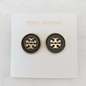 tory burch black earrings